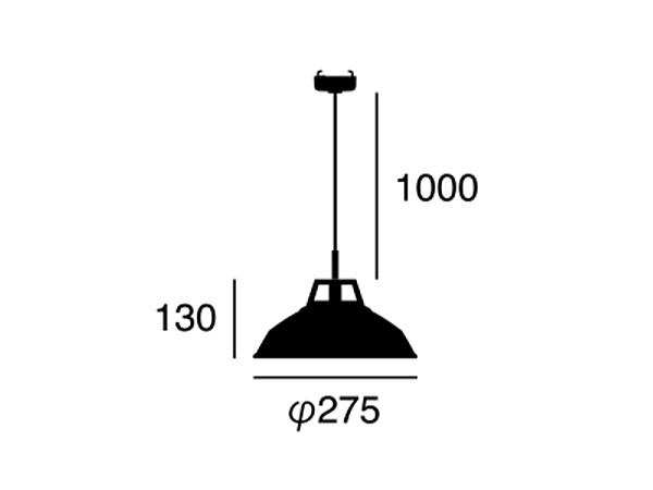 ENAMEL(エナメル) 1灯ヴィンテージデザイン ホーロー仕上げペンダントライト(S)