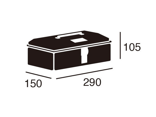 HEAVY DUTY toolbox (M) (ヘビーデューティー)ツールボックス Mサイズ