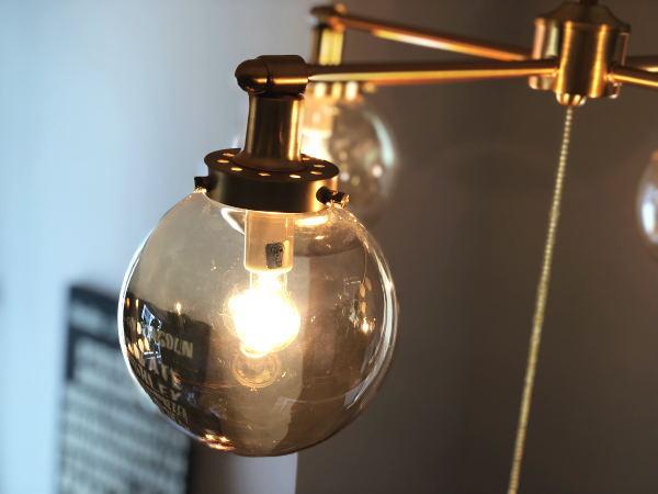 MOONCROSS(ムーンクロス)4灯ガラスシーリングライト