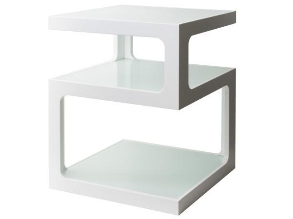ARCA(アルカ) ガラスサイドテーブル(3段タイプ)
